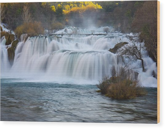 Krka Waterfalls Wood Print