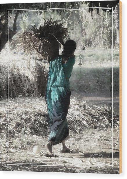 Kumari Wood Print