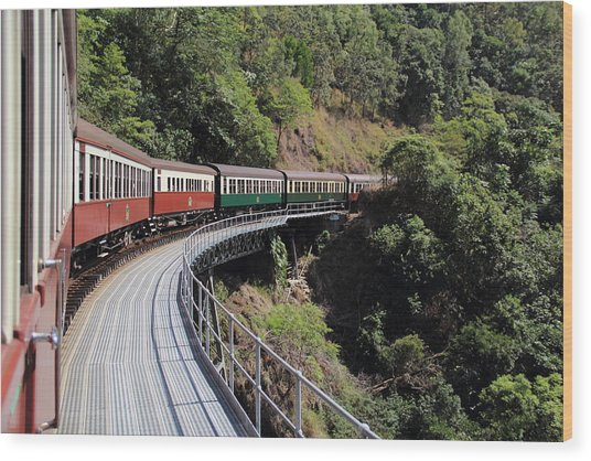 Kuranda Train Wood Print