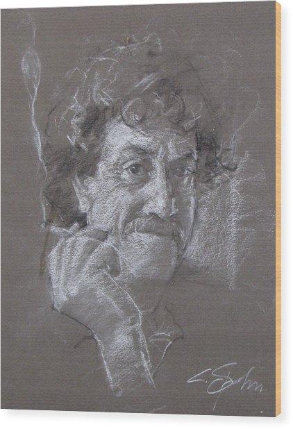Kurt -- Unfinished Sketch Wood Print