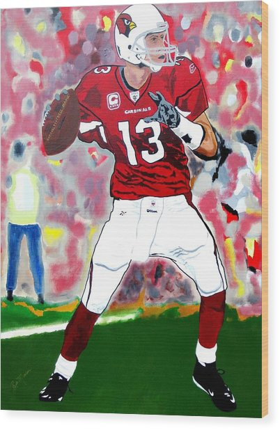 Kurt Warner-in The Zone Wood Print