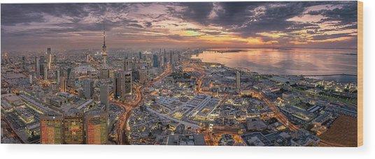Kuwait City Wood Print by Ahmad Al Saffar