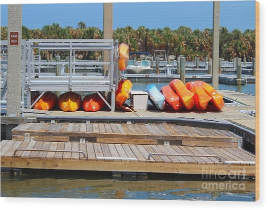 Kyack Dock Wood Print