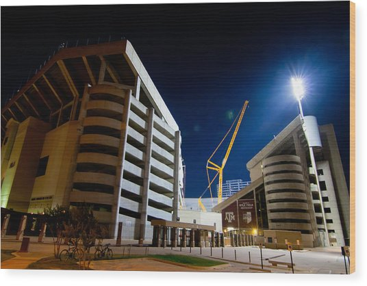 Kyle Field Construction Wood Print