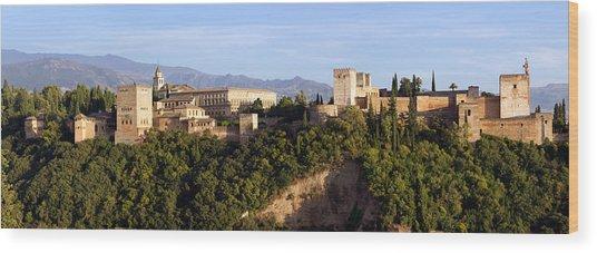 La Alhambra Panorama Wood Print by Francesco Riccardo  Iacomino