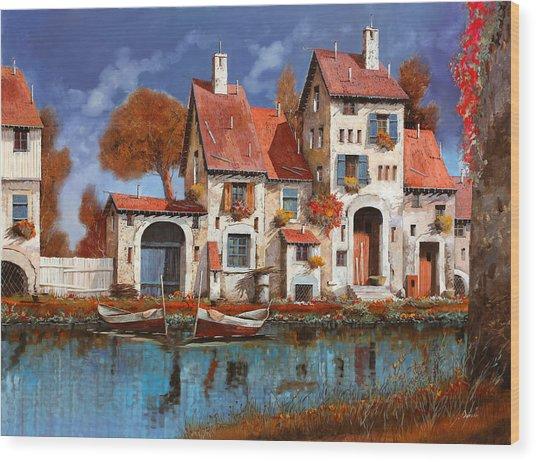 La Cascina Sul Lago Wood Print