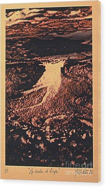 La Corde A Linge Wood Print