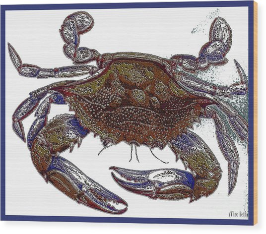 La' Crab Fest Wood Print by Theo Bethel