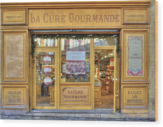 La Cure Gourmande Wood Print