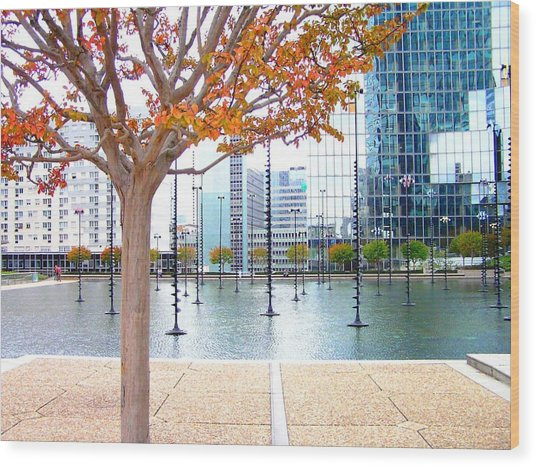 La Defense Wood Print
