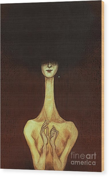 La Femme Fatale Wood Print