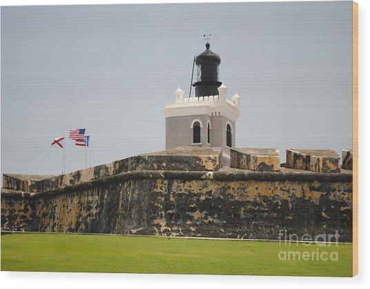 La Fortaleza Light Tower Wood Print