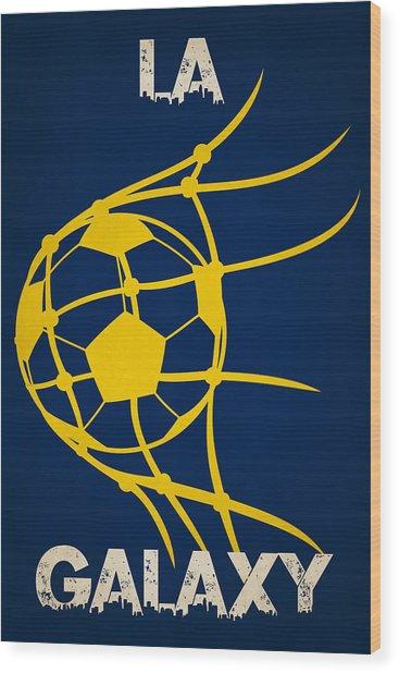 La Galaxy Goal Wood Print