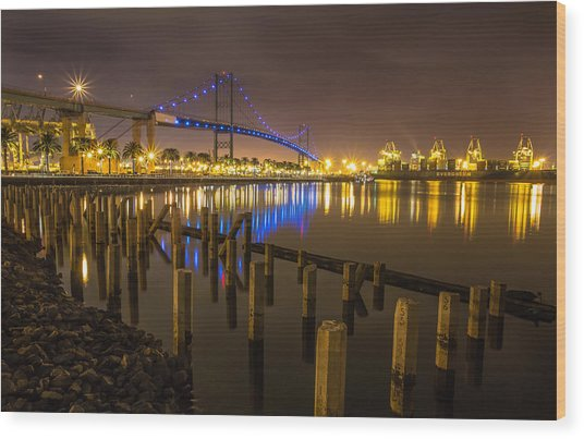 L.a Harbor Wood Print