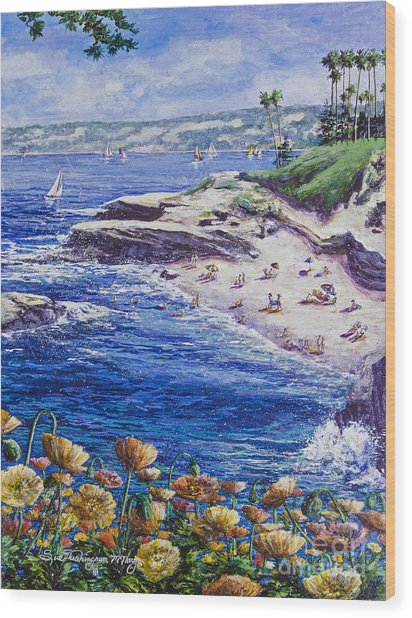 La Jolla Beach Wood Print