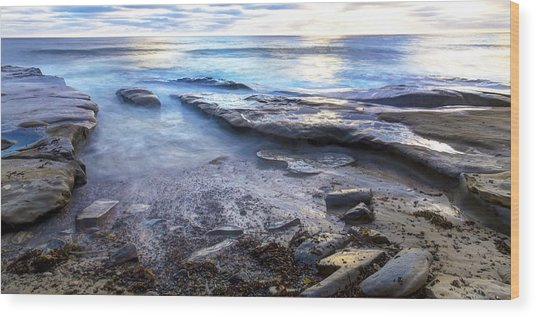 La Jolla Blue Water Wood Print