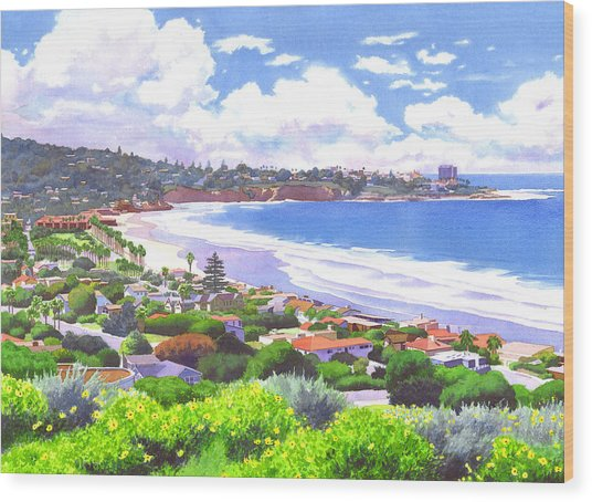 La Jolla California Wood Print