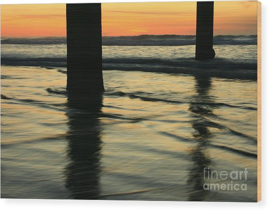 La Jolla Shores Sunset Wood Print