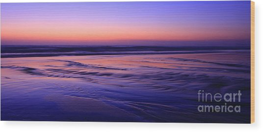 La Jolla Shores Twilight Wood Print