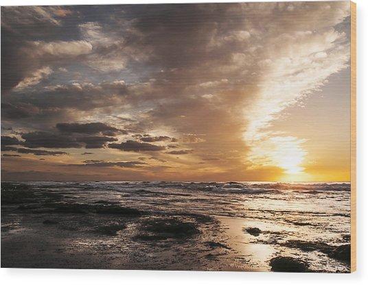 La Jolla Sunset 4 Wood Print
