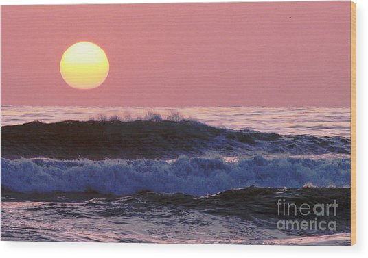 La Jolla Waves Wood Print