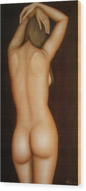 La Mia Danza  Wood Print by Alessandra Veccia