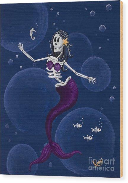La Muerta Del Mar / The Dead Of The Sea Wood Print