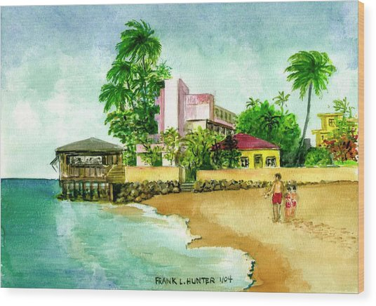 La Playa Hotel Isla Verde Puerto Rico Wood Print