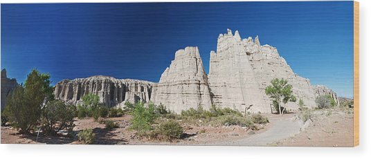 La Plaza Blanca - Panorama Wood Print