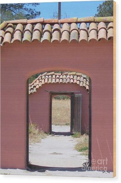 La Purisima Doorways Wood Print
