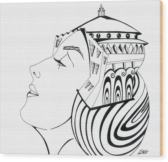 La Reina Catalina Wood Print by Carlos Martinez