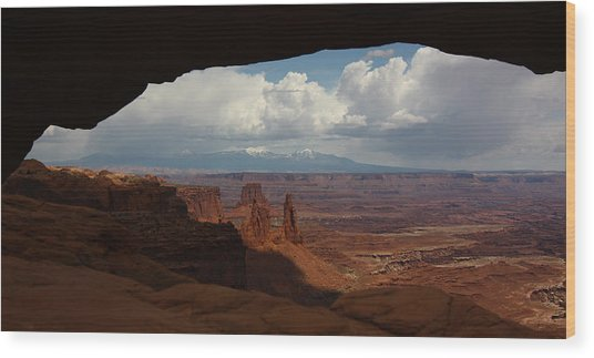 La Sal Mountains Through Mesa Arch Wood Print