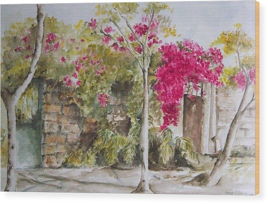 Bougainvillea I Wood Print