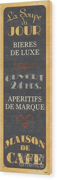 La Soupe Du Jour Wood Print