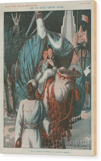 La Vie Parisienne 1920s France Weddings Wood Print by The Advertising Archives
