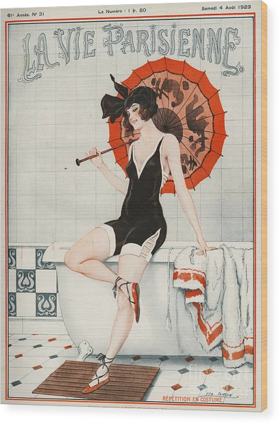 La Vie Parisienne  1923 1920s France Wood Print