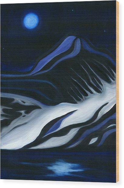 Labrador Blue Mountain Wood Print