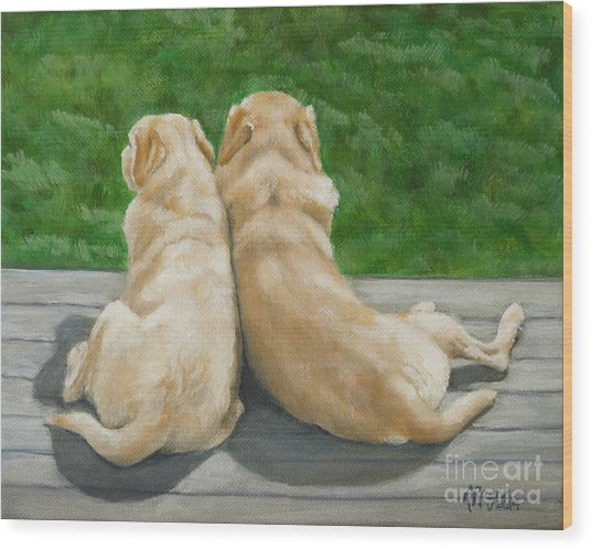 Labrador Lazy Afternoon Wood Print