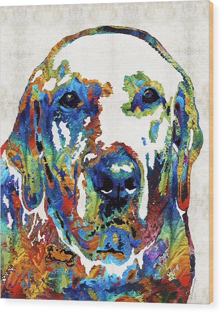 Labrador Retriever Art - Play With Me - By Sharon Cummings Wood Print