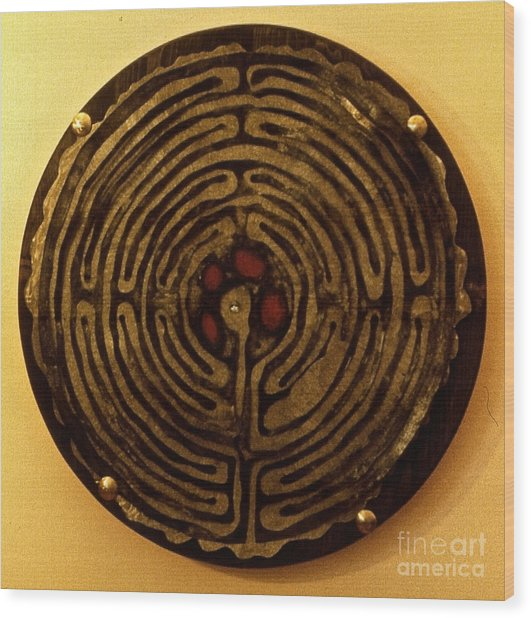Labyrinthe Wood Print