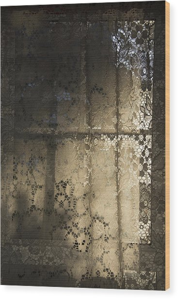 Lace Curtain 1 Wood Print