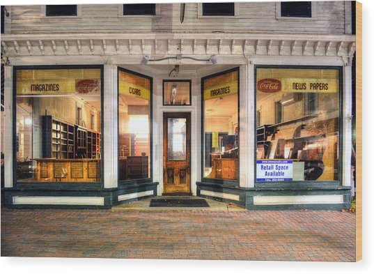 Lackey's Drug Store - Stowe Vermont Wood Print