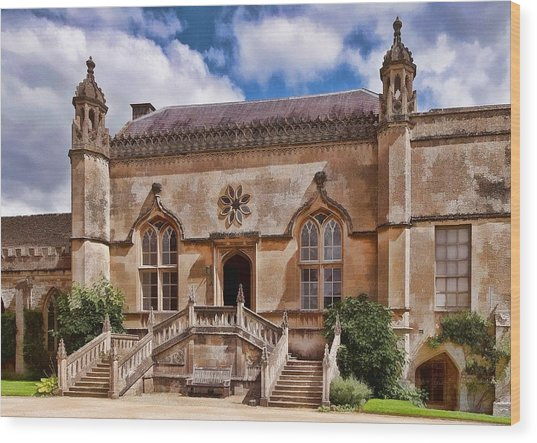 Lacock Abbey - The West Front Wood Print