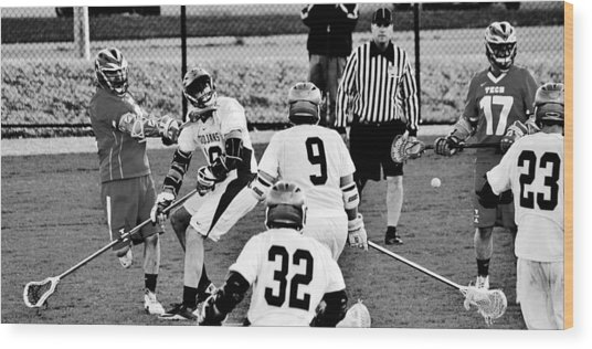 Lacrosse - Stick To The Face Wood Print