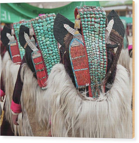 Ladakh, India Married Ladakhi Women Wood Print