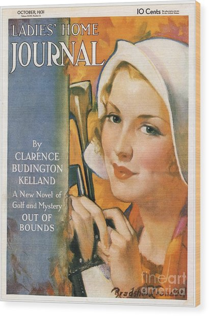 Ladies Home Journal 1930s Usa Golf Wood Print by The Advertising Archives