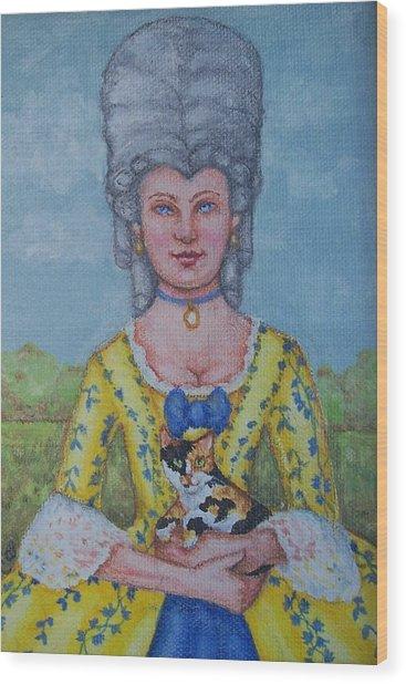 Lady Abigail Wood Print by Beth Clark-McDonal