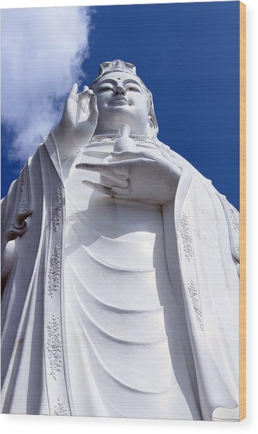 Lady Buddha Vietnam Wood Print