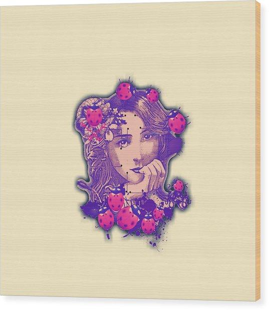 Lady Bug2 Wood Print
