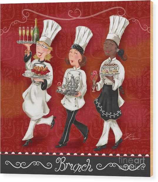 Lady Chefs - Brunch Wood Print